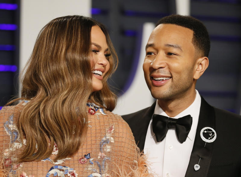 91st Academy Awards – Vanity Fair – Beverly Hills, California, U.S., February 24, 2019 – John Legend and Chrissy Teigen. REUTERS/Danny Moloshok