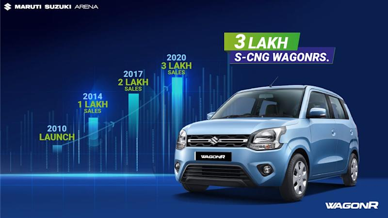 Maruti WagonR Becomes No. 1 CNG Selling Car in India With 3 Lakh Units Sales