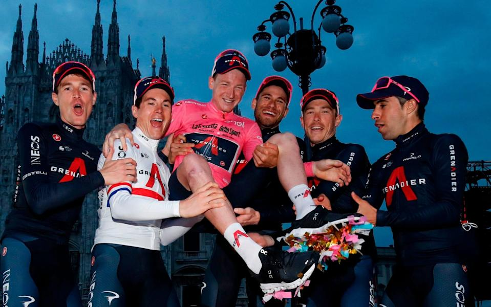 Tao Geoghegan Hart - Giro d'Italia 2020, stage 21 — full results and standings: Filippo Ganna wins time trial as Tao Geoghegan Hart seals pink - GETTY IMAGES