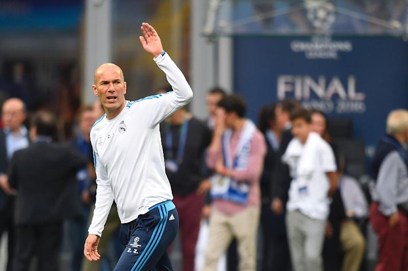 Real Madrid's French coach Zinedine Zidane has led the team to 46 wins in 48 matches and its 11th European Cup
