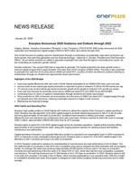 Enerplus 2020 Guidance and Outlook through 2022 (CNW Group/Enerplus Corporation)