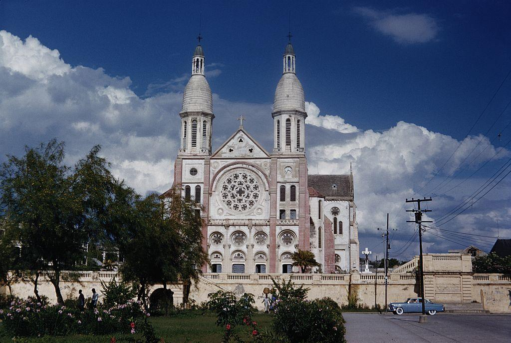 The Cathedral of Our Lady of the Assumption in Port-au-Prince, Haiti. Often called Port-au-Prince Cathedral, and built between 1884 and 1914, the cathedral was destroyed in the earthquake that hit Haiti on January 12, 2010.