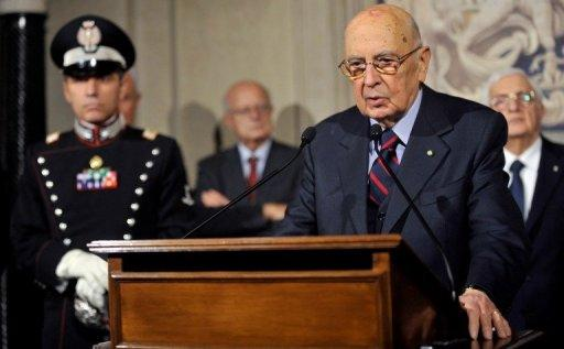 <p>Italy's President Giorgio Napolitano speaks at the Quirinale palace on Saturday after dissolving parliament. Italy's election campaign kicked off on Saturday amid uncertainty over whether Prime Minister Mario Monti will launch himself into the political fray and fight flamboyant billionaire Silvio Berlusconi for the top job.</p>