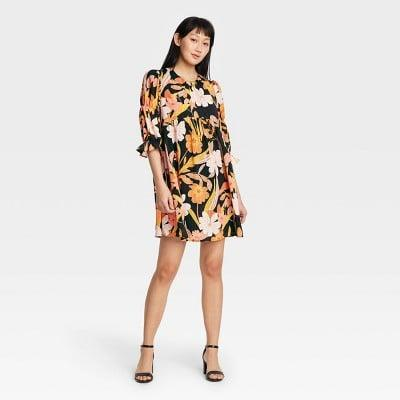 <p>You'll move freely and confidently in this elegant <span>Who What Wear Puff Elbow Sleeve A-Line Dress</span> ($35).</p>