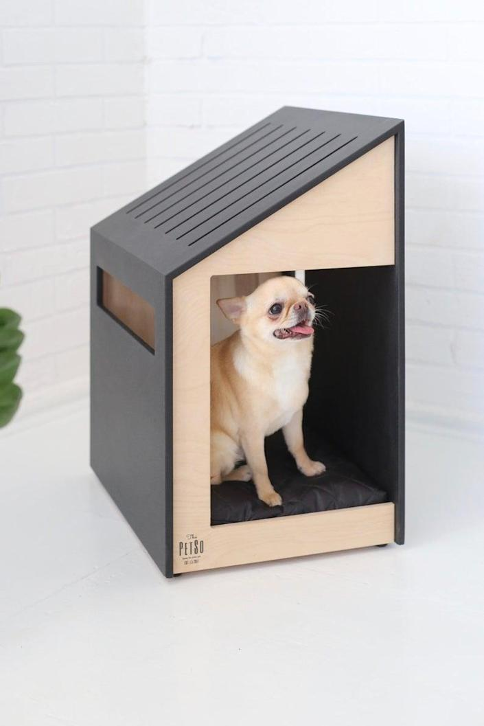 "$185, Etsy. <a href=""https://www.etsy.com/listing/706543829/modern-dog-and-cat-housedog-bedcat"" rel=""nofollow noopener"" target=""_blank"" data-ylk=""slk:Get it now!"" class=""link rapid-noclick-resp"">Get it now!</a>"