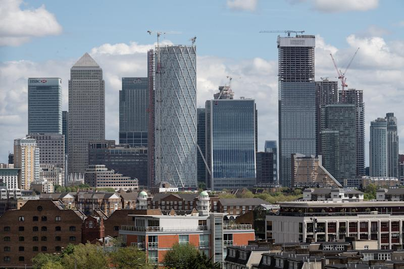 LONDON, ENGLAND - APRIL 26: The Canary Wharf financial district is seen on April 26, 2019 in London, England. (Photo by Leon Neal/Getty Images)