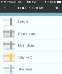 Waze Color Scheme screen