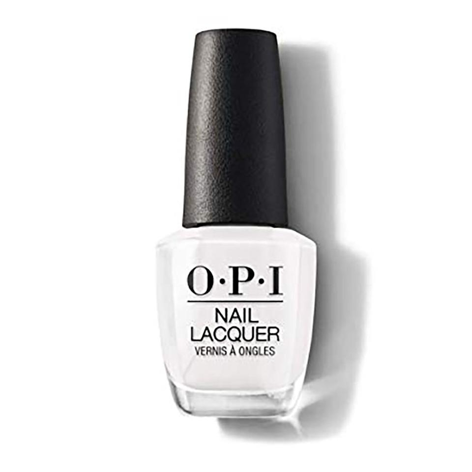 """<p>Contrary to what some might think, a crisp, alabaster white nail polish color has life after summer. The fresh, snow-like hue has swept the fingertips of celebrities like <a href=""""https://www.allure.com/topic/millie-bobby-brown?mbid=synd_yahoo_rss"""">Millie Bobby Brown</a> and <a href=""""https://www.allure.com/topic/jennifer-lopez?mbid=synd_yahoo_rss"""">Jennifer Lopez</a> in the cooler months with different high-shine finishes. For an especially versatile bottle of the hue, Miss Pop suggests OPI Nail Lacquer in Alpine Snow, an opaque, stark white that is perfect for both nail art and an all-over coat of color.</p> <p><strong>$11</strong> (<a href=""""https://shop-links.co/1692774669695728843"""" rel=""""nofollow"""">Shop Now</a>)</p>"""