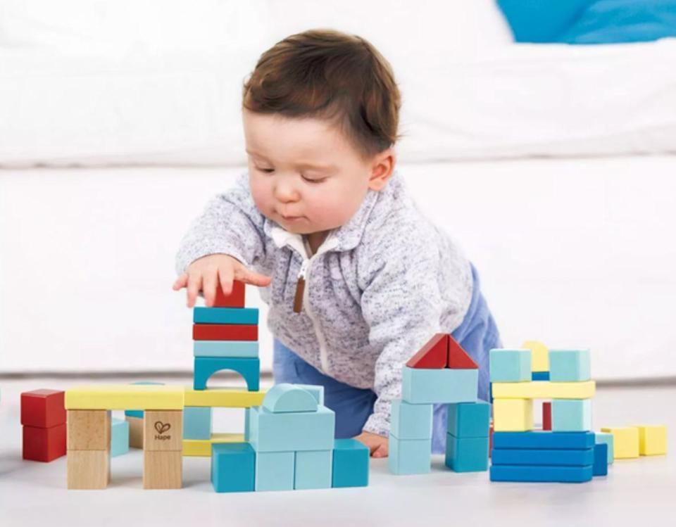 """The blocks aremade from """"child-safe materials and nontoxic finishes"""" to help little ones recognize colors and shapes and eventually get that engineering degree.<br /><br /><strong>Get it from Target for <a href=""""https://go.skimresources.com?id=38395X987171&xs=1&url=https%3A%2F%2Fwww.target.com%2Fp%2Fhape-my-first-blocks-80pc%2F-%2FA-80326475&xcust=HPToysForBoys6092de0ce4b0b9042d99f951"""" target=""""_blank"""" rel=""""noopener noreferrer"""">$16.99</a>.</strong>"""