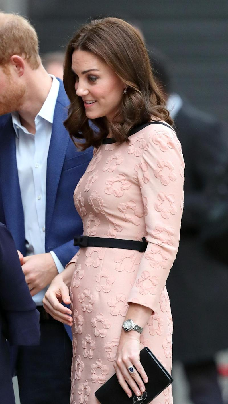Kate showed off her bump earlier this week. Photo: Getty