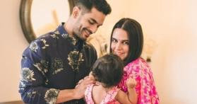 Neha Dhupia and Angad Bedi's daughter turns one, actors write heartfelt messages