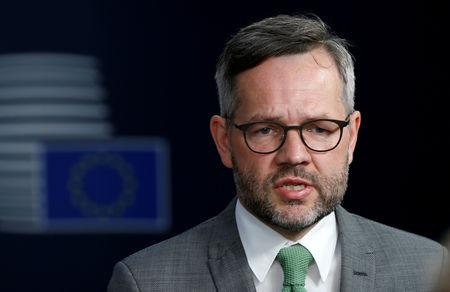 German Minister of State for Europe Michael Roth attends a European Union foreign ministers meeting in Brussels