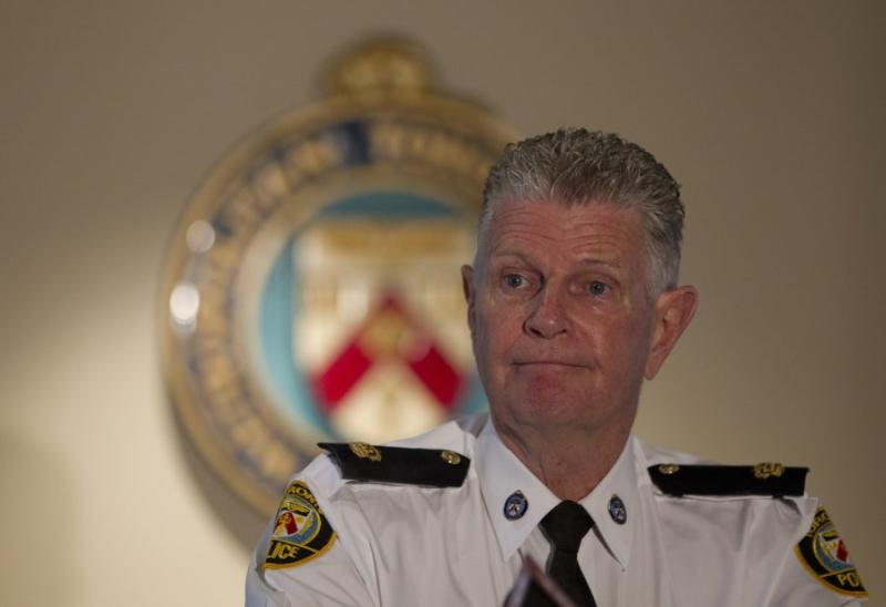Toronto Police Supt. Ron Taverner speaks to the media in a 2012 file photo. Ontario's integrity commissioner found that the premier did not break the law in Taverner's appointment as OPP commissioner, but the selection process wasn't fair to other candidates, either.