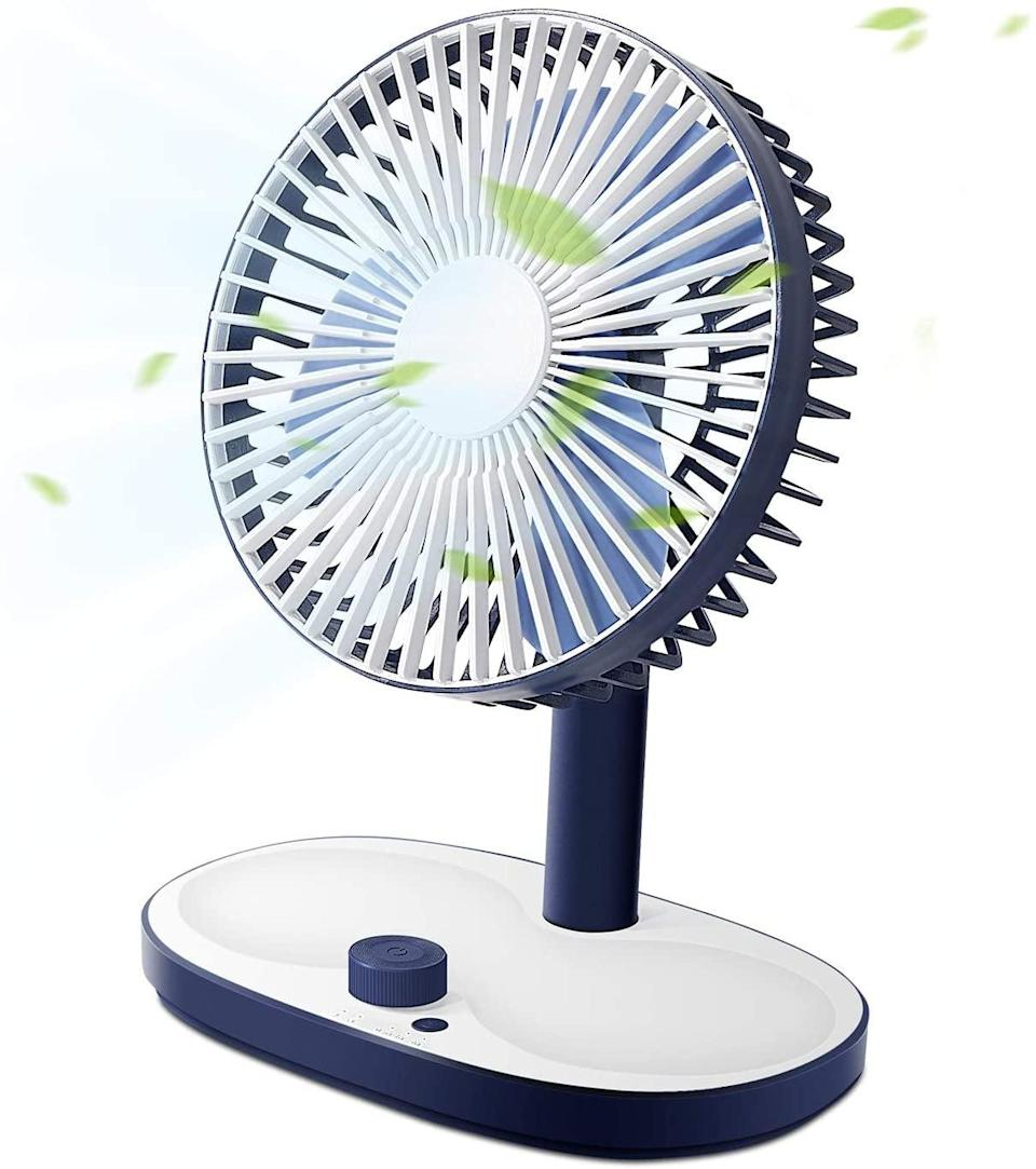 <p>Keep your work area cool and comfortable with this <span>SmartDevil Desktop Fan</span> ($10, originally $15).</p>