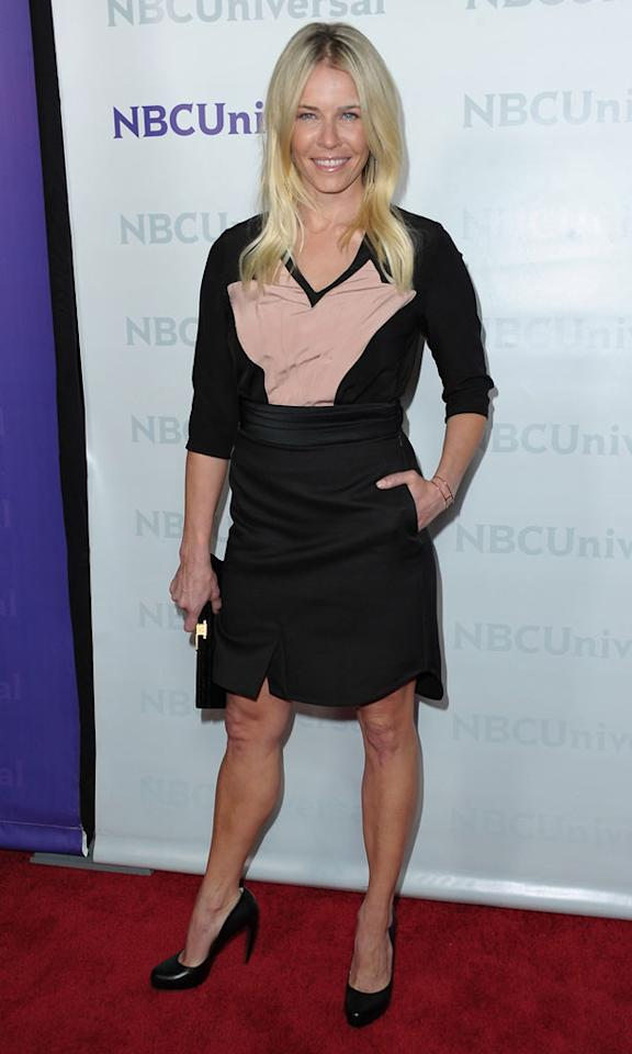 "<a href=""/chelsea-handler/contributor/481864"">Chelsea Handler</a> (""<a href=""/are-you-there-chelsea/show/47388"">Are You There, Chelsea?</a>"") attends the 2012 NBC Universal Winter TCA All-Star Party at The Athenaeum on January 6, 2012 in Pasadena, California."