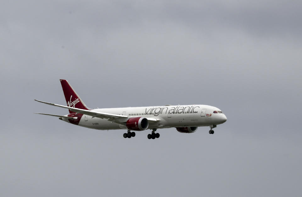 A Virgin Atlantic plane coming in to land at Heathrow Airport. (Steve Parsons/PA Wire/PA Images)