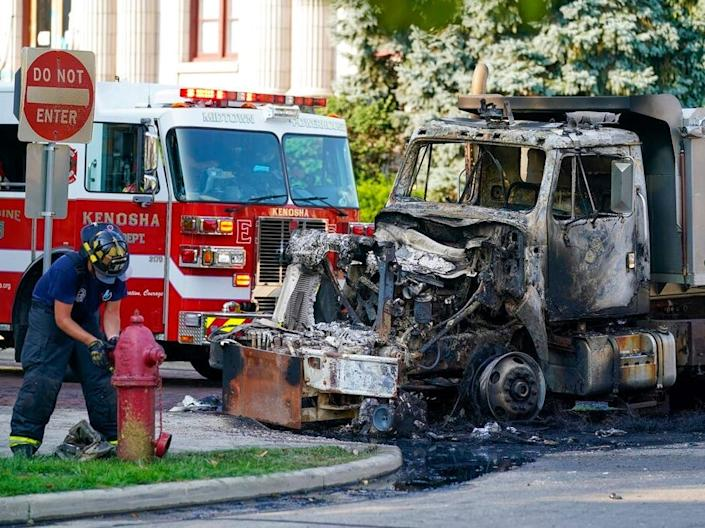 Kenosha DPW trucks burned