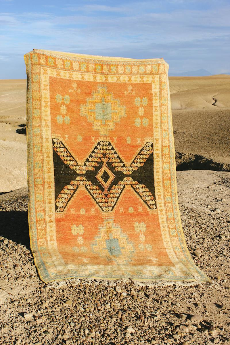 Jedda's Embalitic Vintage Rug is one of the rugs available in season two, a mix of new and vintage rugs.