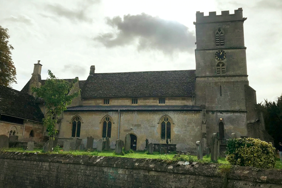 A mysterious figure called the 'Black Abbot' is said to endlessly roam the local churchyard (SWNS)