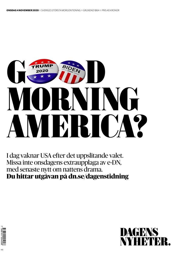 "DAGENS NYHETER, Published in Stockholm, Sweden (Courtesy <a href=""https://www.newseum.org/todaysfrontpages/"" rel=""nofollow noopener"" target=""_blank"" data-ylk=""slk:Newseum"" class=""link rapid-noclick-resp"">Newseum</a>)"