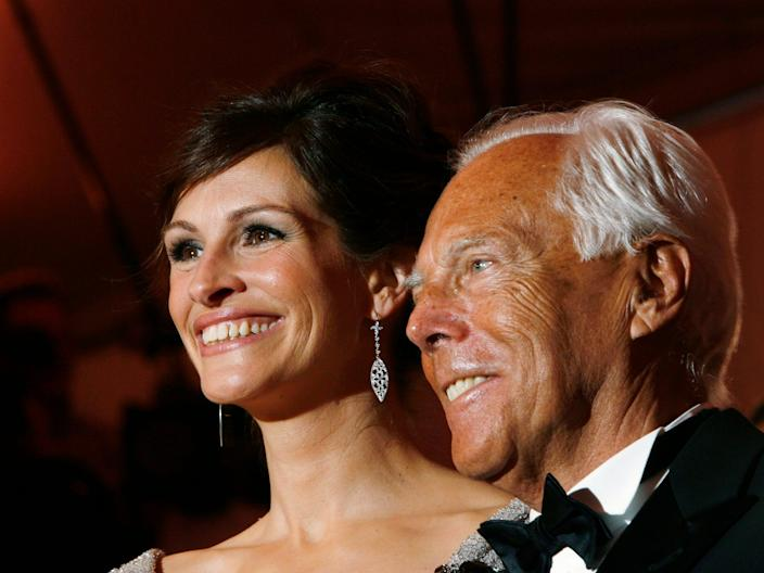 "Julia Roberts and Armani at the Met Gala in 2008. <p class=""copyright"">Reuters</p>"