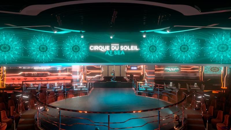 You'll have to buy tickets for dinner theater shows like Cirque du Soleil on MSC ships.