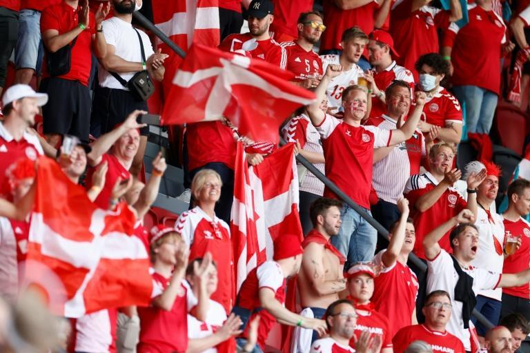 Danish fans descended on Amsterdam in their droves