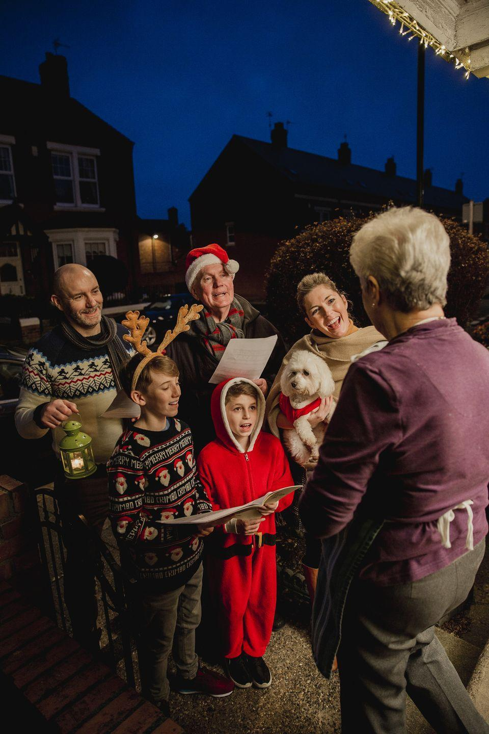 """<p>Round up friends and family to make your very own chorus of carolers and surprise your neighbors with some holiday entertainment at their doorstep. You can also record and send video messages to share virtual Christmas cheer!</p><p><a class=""""link rapid-noclick-resp"""" href=""""https://www.amazon.com/Christmas-Caroling-Songbook-2Nd/dp/1423414195/?tag=syn-yahoo-20&ascsubtag=%5Bartid%7C10050.g.25411840%5Bsrc%7Cyahoo-us"""" rel=""""nofollow noopener"""" target=""""_blank"""" data-ylk=""""slk:SHOP SONGBOOKS"""">SHOP SONGBOOKS</a></p>"""