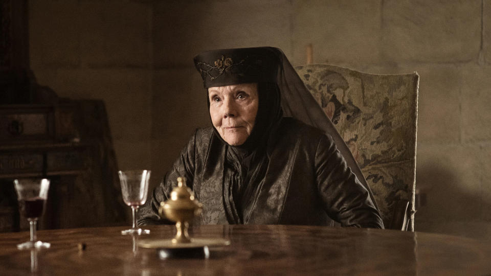 Diana Rigg as Olenna Tyrell in 'Game of Thrones'. (Credit: HBO)