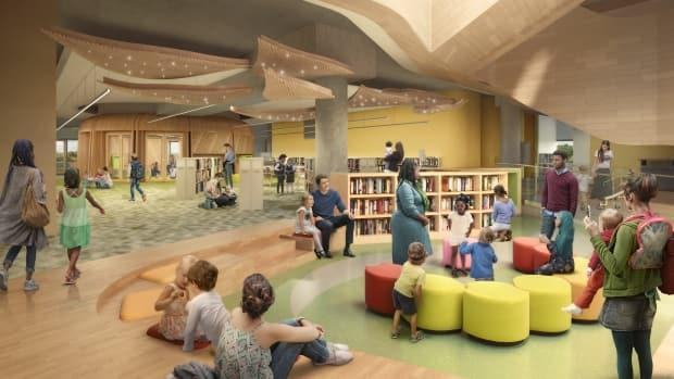A view of the children's section in the final design drawings of the Ottawa Central Library, unveiled at a library board meeting on Tuesday.