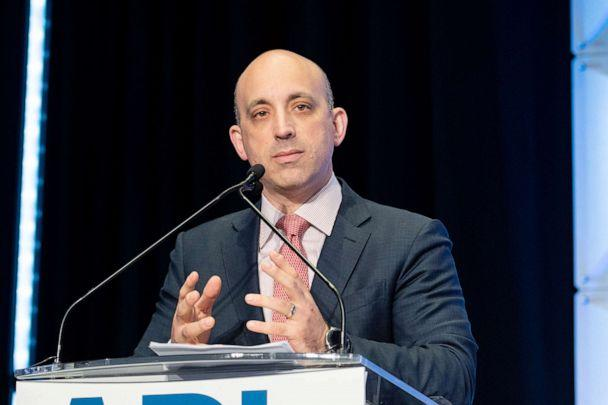 PHOTO: Jonathan Greenblatt, ADL CEO and National Director, speaks at the Anti-Defamation League National Leadership Summit in Washington, June 4, 2019. (Sopa Images/LightRocket via Getty Images)