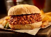 """<p><strong>Sloppy Joe </strong></p><p>Legend has it that in the 1930s in Sioux City, a cafe cook named Joe added tomato sauce to his loose meat sandwiches and the rest is history. Although it's one of the most basic recipes on the list, it's also one of the most satisfying. Be sure to get one at <a href=""""https://hudsonstap.com/"""" rel=""""nofollow noopener"""" target=""""_blank"""" data-ylk=""""slk:Hudson's Southside Tap"""" class=""""link rapid-noclick-resp"""">Hudson's Southside Tap</a>. </p>"""