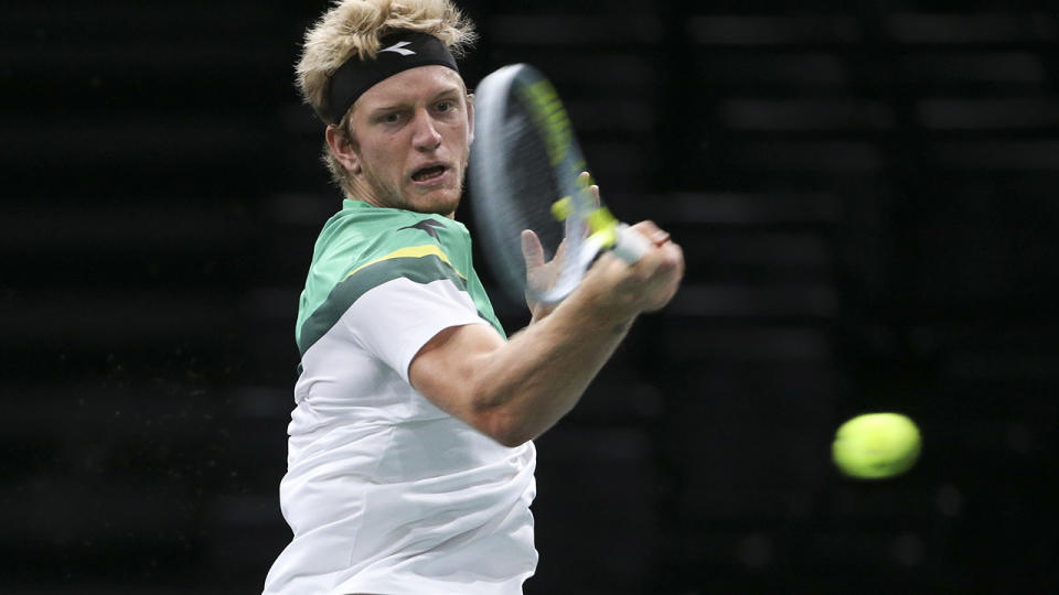 Alejandro Davidovich Fokina, pictured here in action at the ATP Paris Masters in November.
