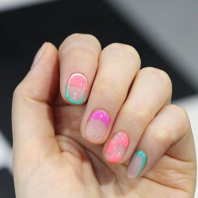 "<p>Not satisfied with just one nail art design? Change it up for each of your nails with a different high gloss print and colour on every finger.</p><p><a href=""https://www.instagram.com/p/ByF9rjPlRVE/"" rel=""nofollow noopener"" target=""_blank"" data-ylk=""slk:See the original post on Instagram"" class=""link rapid-noclick-resp"">See the original post on Instagram</a></p>"