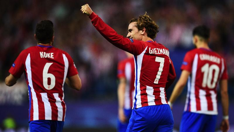 Antoine Griezmann Koke Atletico Madrid Leicester City UCL 12042017