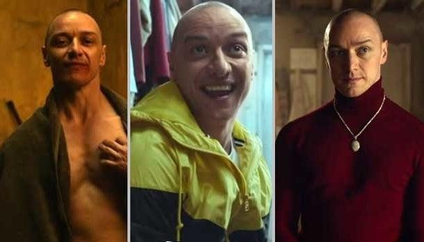 James McAvoy plays multiple personalities