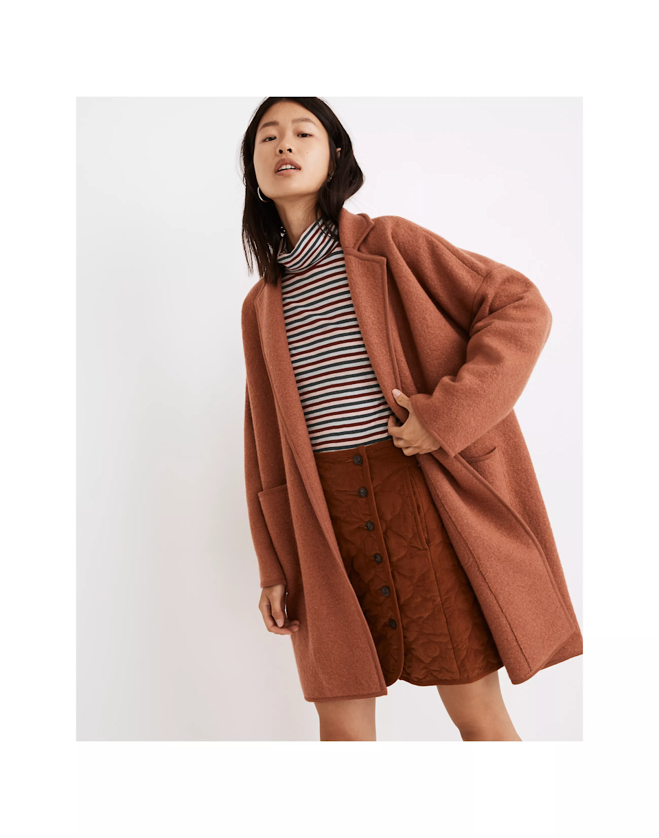 """<br><br><strong>Madewell</strong> Courton Sweater Coat, $, available at <a href=""""https://go.skimresources.com/?id=30283X879131&url=https%3A%2F%2Fwww.madewell.com%2Fcourton-sweater-coat-NB390.html"""" rel=""""nofollow noopener"""" target=""""_blank"""" data-ylk=""""slk:Madewell"""" class=""""link rapid-noclick-resp"""">Madewell</a>"""