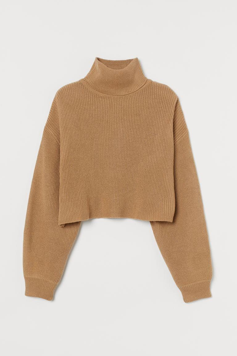 <p>This <span>Cropped Turtleneck Sweater</span> ($18) will keep you warm and comfy.</p>