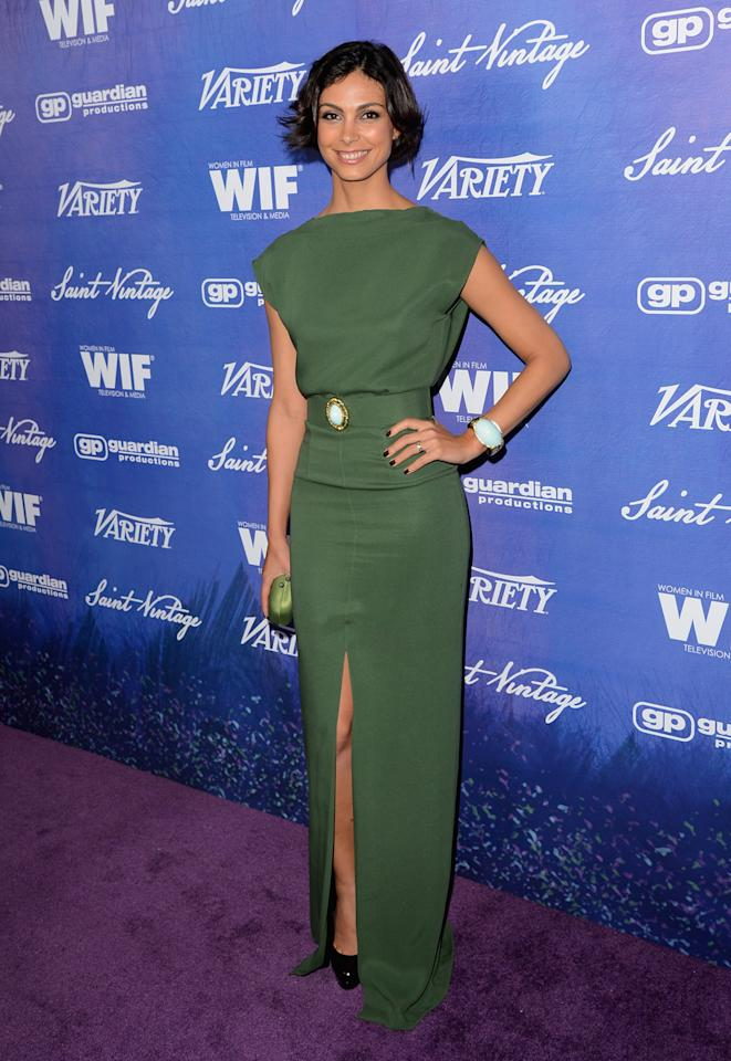 Actress Morena Baccarin arrives at Variety and Women in Film Pre-EMMY Event presented by Saint Vintage at Montage Beverly Hills on September 21, 2012 in Beverly Hills, California.  (Photo by Jason Merritt/WireImage)