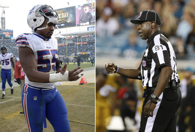 Jerry Hughes was suspended after confronting Roy Eliison. (AP Photos)