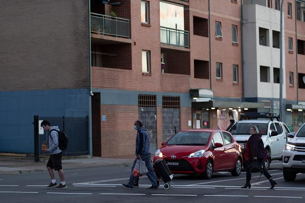 A general view on Macquarie Street in Liverpool in Sydney, Australia.
