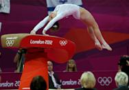 <b>McKayla Maroney</b><br> Maroney's Olympic journey has wavered from the glory of sticking a near-perfect vault at the team final to the grief of falling during her individual vault performance. But before both of those vaults, Maroney executed her usual routine: she steps on the runway and slides back on her left foot, as if loading a spring, before starting her run. (Photo by Ezra Shaw/Getty Images)