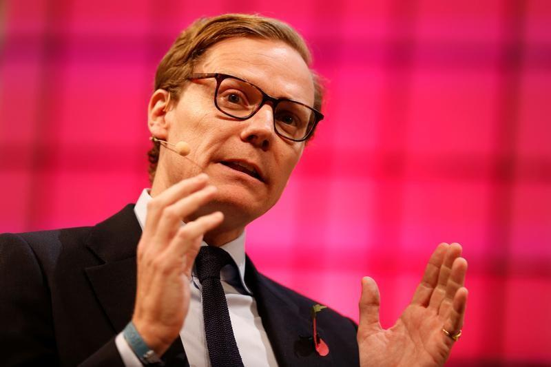 Alexander Nix speaks during the Web Summit, Europe's biggest tech conference, in Lisbon