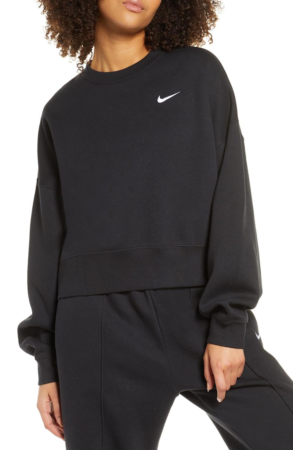 """<p><strong>NIKE</strong></p><p>nordstrom.com</p><p><a href=""""https://go.redirectingat.com?id=74968X1596630&url=https%3A%2F%2Fshop.nordstrom.com%2Fs%2Fnike-sportswear-crewneck-sweatshirt%2F5369432&sref=https%3A%2F%2Fwww.cosmopolitan.com%2Fstyle-beauty%2Ffashion%2Fg33597174%2Fnordstrom-anniversary-sale-2020%2F"""" rel=""""nofollow noopener"""" target=""""_blank"""" data-ylk=""""slk:Shop Now"""" class=""""link rapid-noclick-resp"""">Shop Now</a></p><p>If I could have Nike everything in my life rn, I would. But I'll just start with this discounted sweatshirt for now.</p><p><strong>Add to cart to see the special price.</strong></p>"""