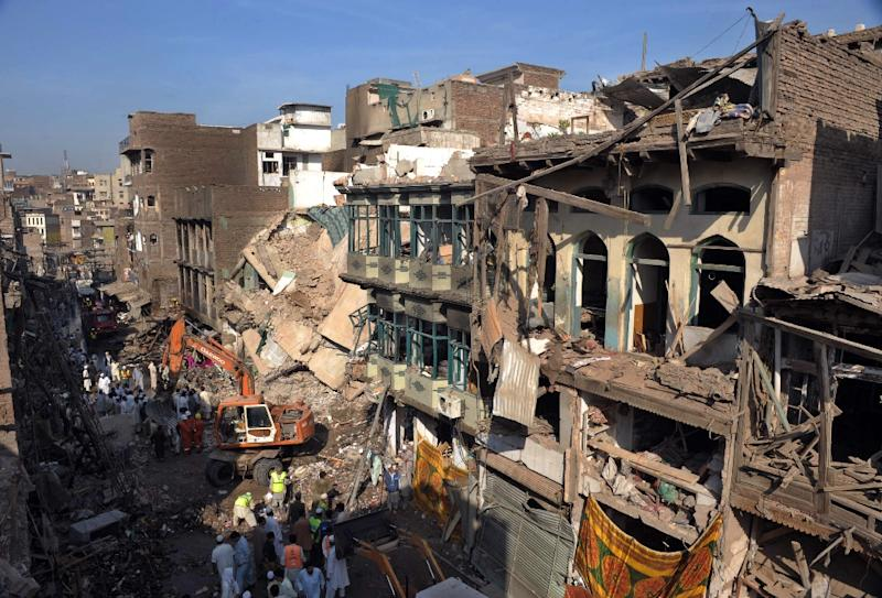 More than 100 people were killed and over 200 injured in the 2009 bombing of the Meena Bazaar in Peshawar, Pakistan (AFP Photo/A Majeed)