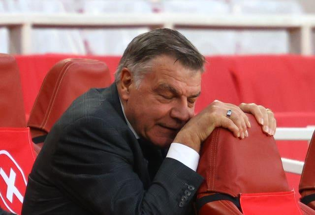 Sam Allardyce sinks into this chair during West Brom's costly defeat at Arsenal in May. Former England manager Allardyce returned to the Premier League following more than two and a half years away to replace the sacked Slaven Bilic in December. However, the 66-year-old was unable to preserve his record of having never been relegated from the top flight as a manager. His club's immediate return to the Sky Bet Championship was confirmed by the 3-1 defeat at Emirates Stadium