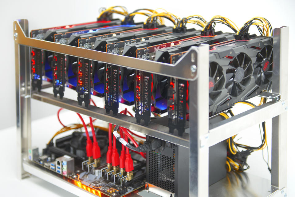 LONDON,UNITED KINGDOM - JUNE 3: A cryptocurrency units built to mine and to trade bitcoin at Trio Mining on June 3,2021 in London, England. (Photo by Peter Dazeley/Getty Images)