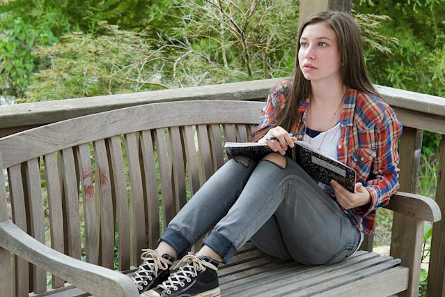Katelyn Nacon as Enid in AMC's <i>The Walking Dead</i>. (Photo: Gene Page/AMC)