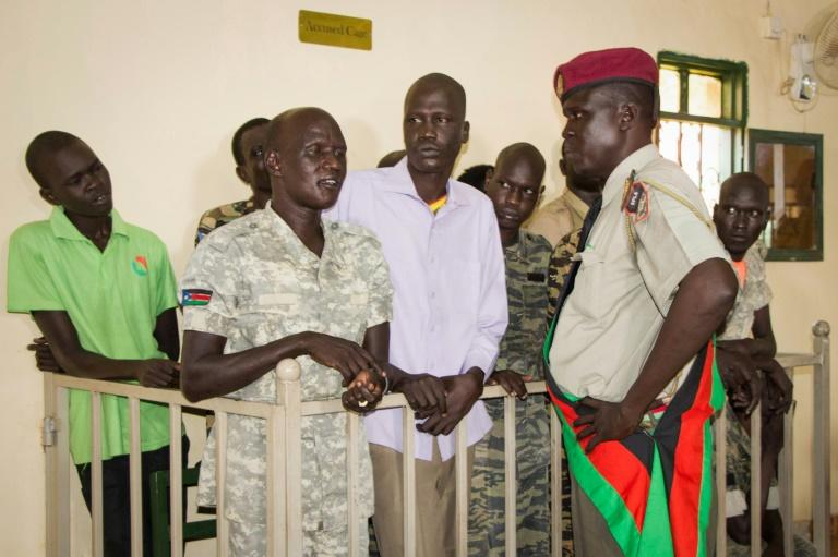The military court in South Sudan's capital Juba found 10 soldiers guilty of raping five foreign aid workers and murdering a local journalist during fighting in July 2016