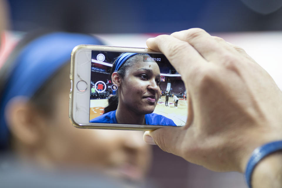 A documentary about Maya Moore will include intimate footage from her work to free Jonathan Irons. (Tim Clayton/Corbis via Getty Images)